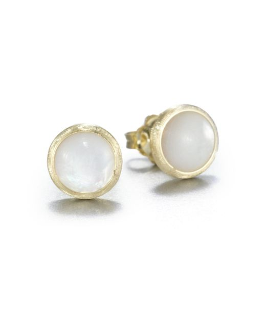 Marco Bicego | Metallic Jaipur Resort Mother-of-pearl & 18k Yellow Gold Stud Earrings | Lyst