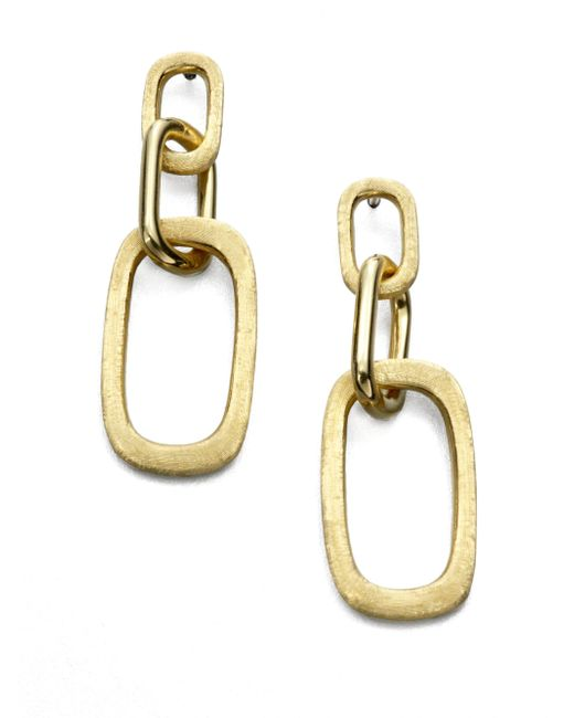 Marco Bicego | Metallic Murano 18k Yellow Gold Link Drop Earrings | Lyst