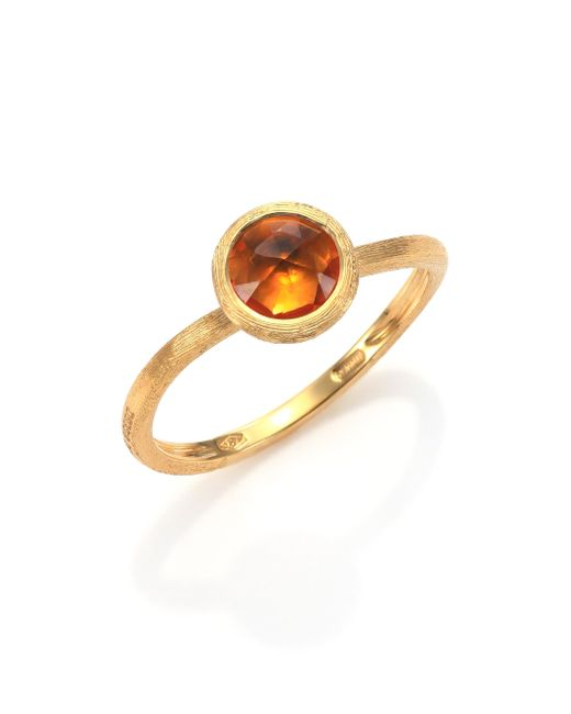 Marco Bicego | Orange Jaipur Citrine & 18k Yellow Gold Ring | Lyst