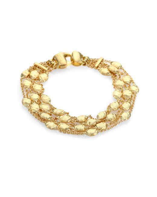 Marco Bicego | Metallic Siviglia 18k Yellow Gold Five-row Station Bracelet | Lyst