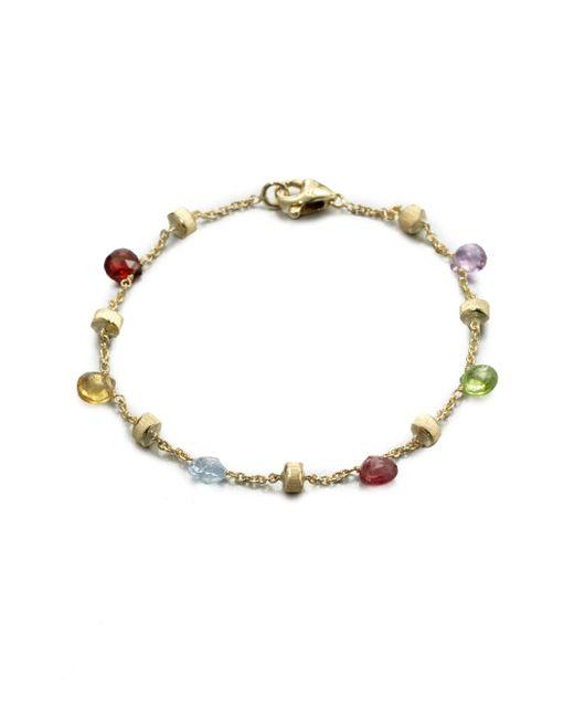 Marco Bicego | Metallic Paradise Semi-precious Multi-stone & 18k Yellow Gold Station Bracelet | Lyst
