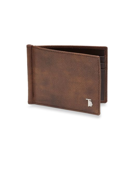 Tod's | Brown Leather Money Clip Wallet for Men | Lyst