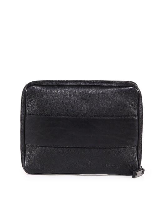 CoSTUME NATIONAL | Black Grained Leather Ipad Portfolio for Men | Lyst