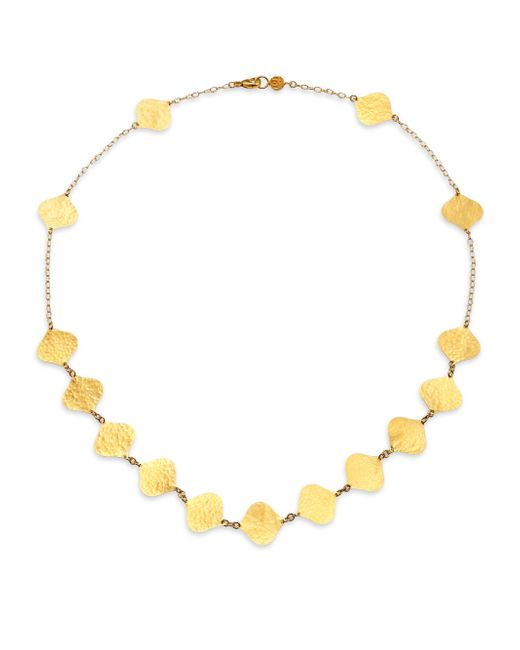 Gurhan | Metallic Clove 24k Yellow Gold Flake Station Necklace | Lyst