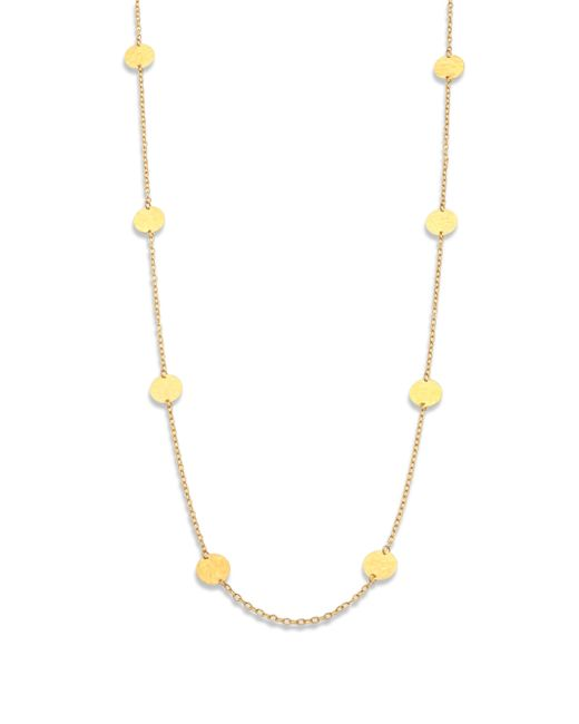 Gurhan | Metallic 24k Yellow Gold Disc Station Necklace | Lyst
