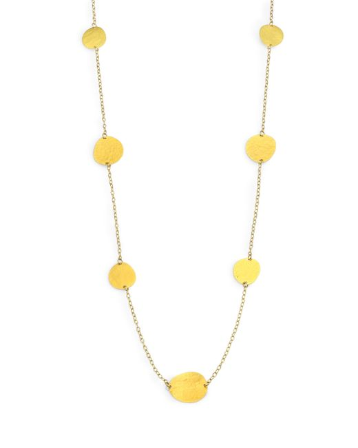 Gurhan | Metallic 24k Yellow Gold Petal Station Necklace | Lyst