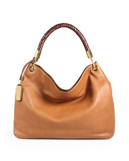 Michael Kors | Brown Skorpios Large Leather Hobo Bag | Lyst