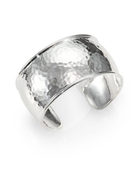 Ippolita | Metallic Sterling Silver Hammered Bracelet | Lyst