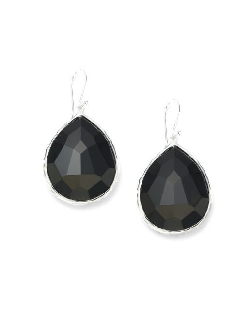 Ippolita | Metallic Rock Candy Black Onyx & Sterling Silver Large Teardrop Earrings | Lyst
