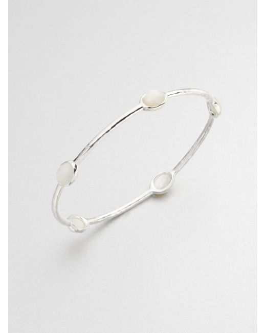 Ippolita | Metallic Rock Candy Mother-0f-pearl & Sterling Silver Five-stone Bangle Bracelet | Lyst