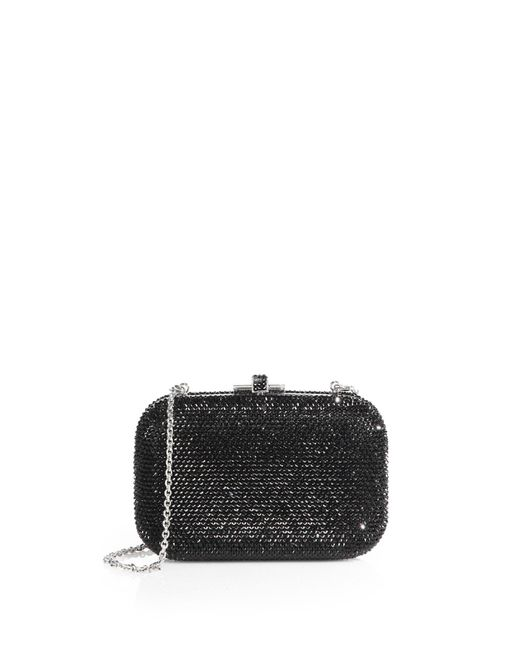 Judith Leiber | Black Crystal-embellished Clutch | Lyst