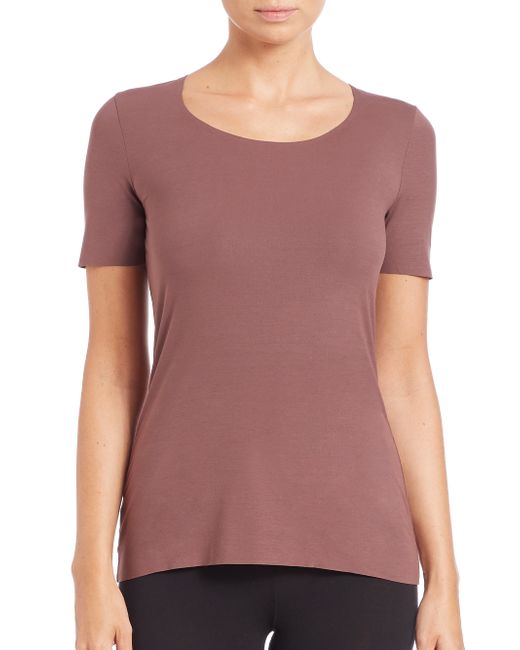 Wolford | Purple Pure Tee | Lyst