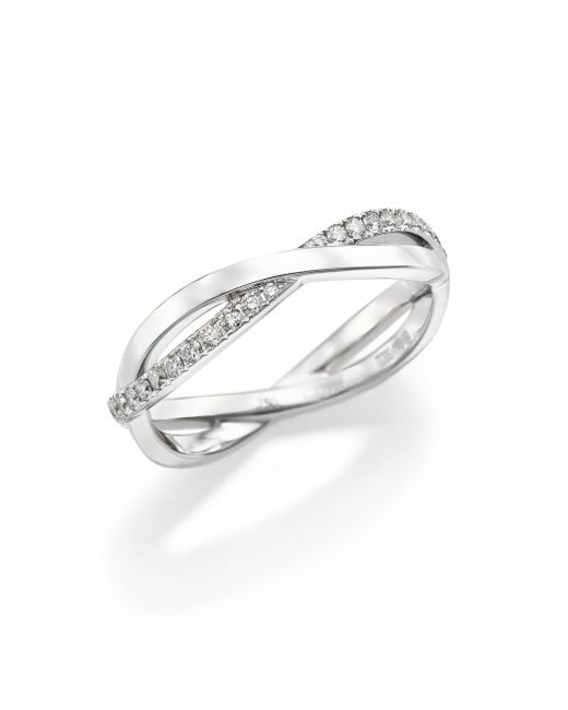 De Beers | Infinity Diamond & 18k White Gold Half Band Ring | Lyst
