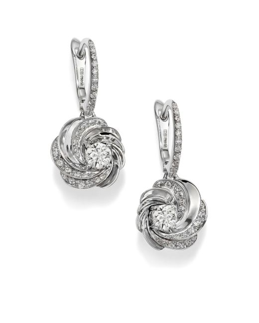 De Beers | Metallic Aria Diamond & 18k White Gold Sleeper Drop Earrings | Lyst