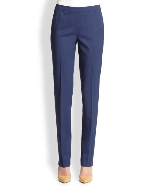 Lafayette 148 New York | Blue Bleecker Stretch Wool Pants | Lyst