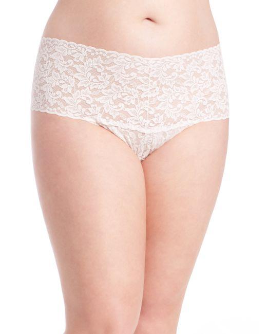 Hanky Panky | White Plus Size Retro Lace V-kini Thong | Lyst