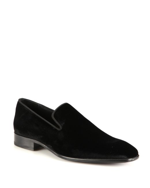 Saks Fifth Avenue | Black Collection Velvet Loafers for Men | Lyst