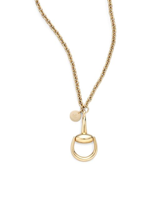Gucci | Metallic Horsebit 18k Yellow Gold Pendant Necklace | Lyst