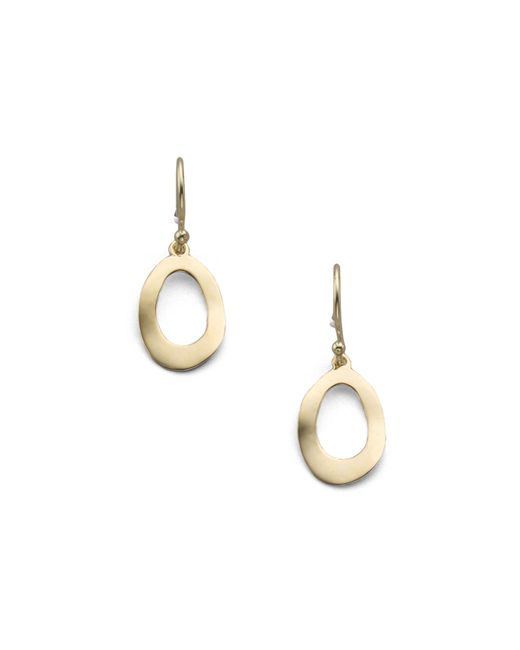 Ippolita | Metallic Glamazon Sculptural Metal 18k Yellow Gold Mini Open Oval Drop Earrings | Lyst