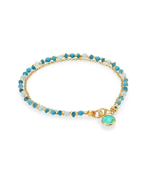 Astley Clarke | Blue Biography Turquoise, Apatite & Amazonite Be Very Cool Beaded Friendship Bracelet | Lyst