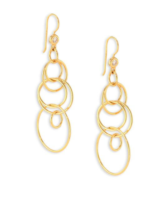 Ippolita | Metallic Glamazon Diamond & 18k Yellow Gold Mini Jet Set Drop Earrings | Lyst