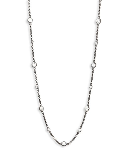 Annoushka | Metallic Nectar Night White Sapphire & 18k White Gold Jasmine Long Necklace | Lyst