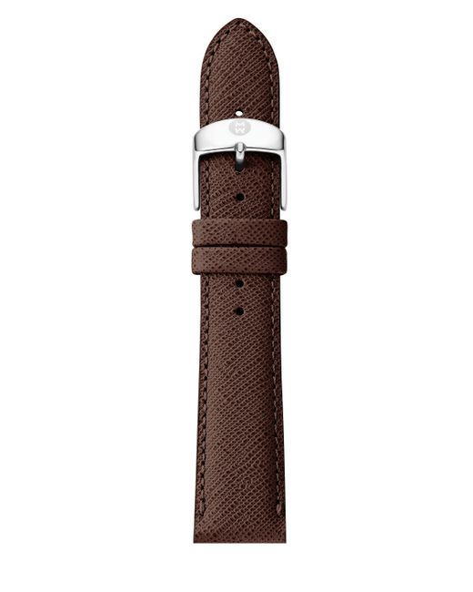 Michele Watches | Brown Saffiano Leather Watch Strap/16mm | Lyst