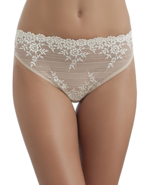 Wacoal | Natural Embrace Lace High-cut Brief | Lyst