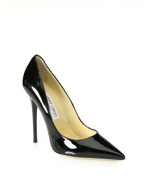 Jimmy Choo | Black 120mm Anouk Patent Leather Pumps | Lyst