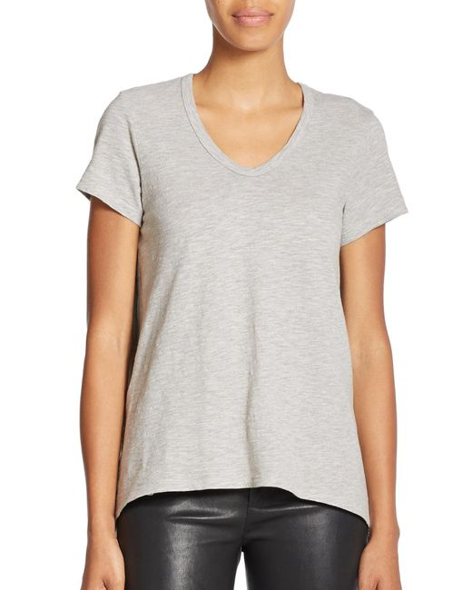 Wilt | Gray Shrunken Boyfriend Cotton Tee | Lyst