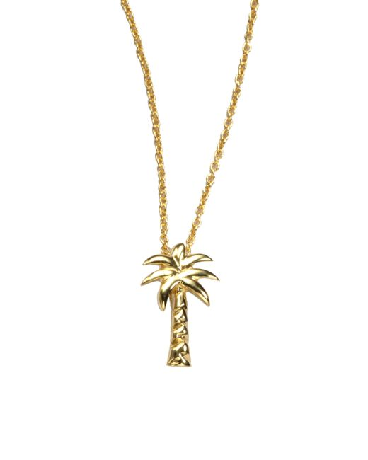 Roberto Coin | Metallic Tiny Treasures 18k Yellow Gold Palm Tree Pendant Necklace | Lyst