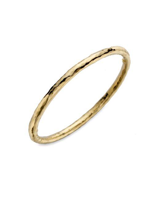 Roberto Coin | Metallic Martellato 18k Yellow Gold Bangle Bracelet | Lyst