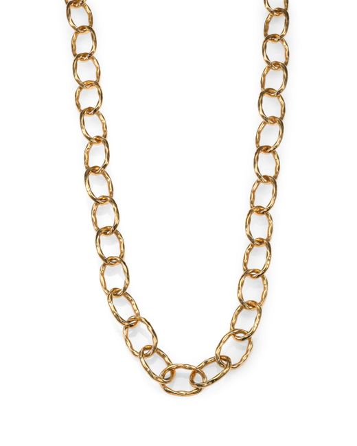 Roberto Coin | Metallic Martellato 18k Yellow Gold Chain Necklace | Lyst