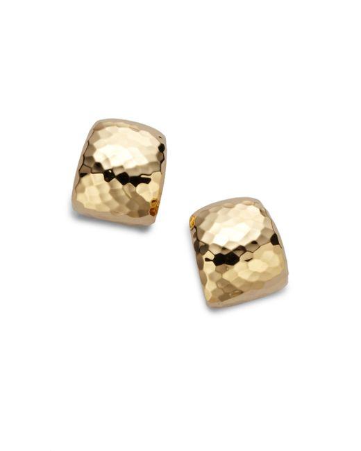 Roberto Coin | Metallic Martellato 18k Yellow Gold Huggie Earrings/0.75 | Lyst