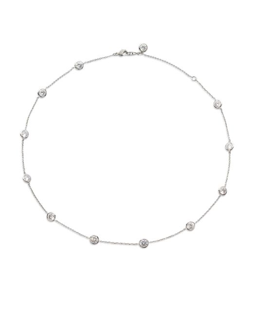 Adriana Orsini | Metallic Bezel-set Stationed Necklace | Lyst