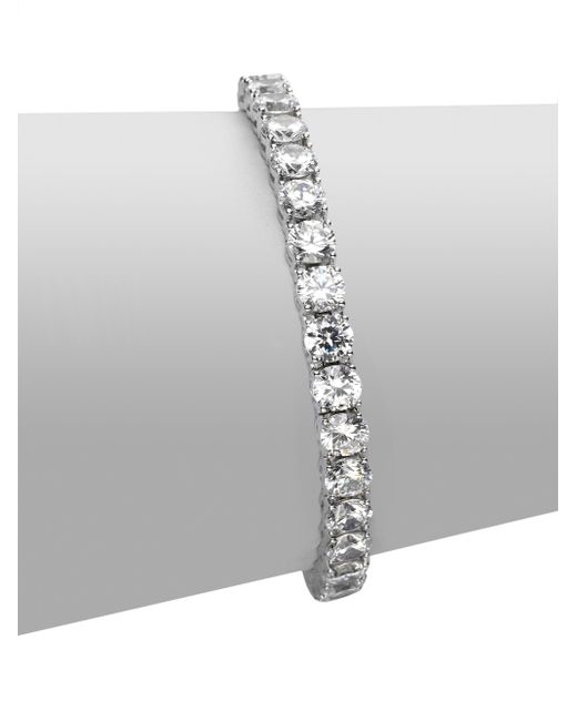 Adriana Orsini | Metallic Sterling Silver Tennis Bracelet | Lyst
