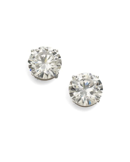 Adriana Orsini | Metallic Sterling Silver 4 Carat Stud Earrings | Lyst