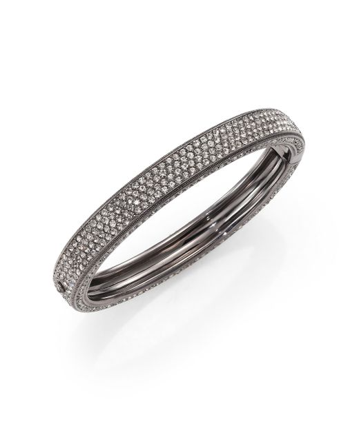 Adriana Orsini | Metallic Pave Crystal Four-row Bangle Bracelet | Lyst