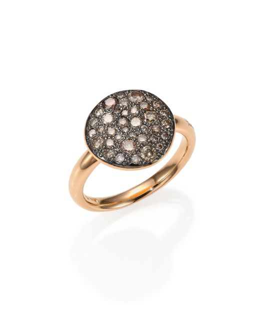 Pomellato | Pink Sabbia Brown Diamond & 18k Rose Gold Ring | Lyst