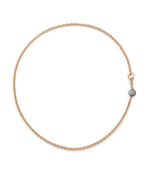 Pomellato | Pink Sabbia Diamond & 18k Rose Gold Necklace | Lyst