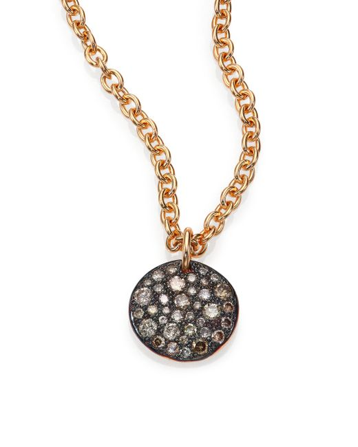 Pomellato | Pink Sabbia Brown Diamond & 18k Rose Gold Pendant | Lyst