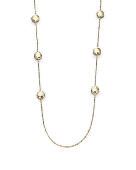 Ippolita | Glamazon 18k Yellow Gold Circle Station Necklace | Lyst