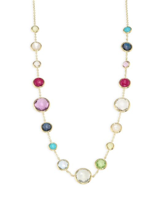 Ippolita | Metallic Multi Gemstone and 18k Yellow Gold Necklace | Lyst