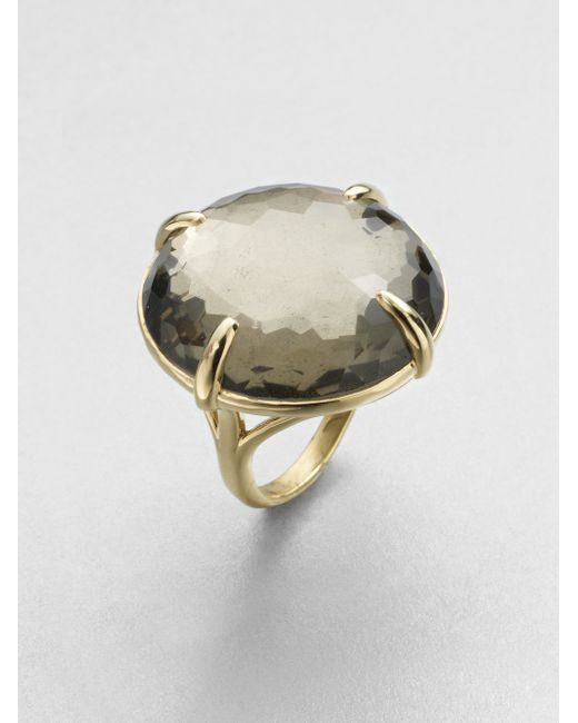 Ippolita | Metallic 18k Yellow Gold Pyrite Doublet Cocktail Ring | Lyst