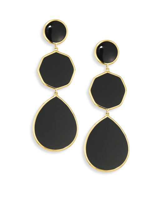 Ippolita | Metallic Polished Rock Candy Black Onyx & 18k Yellow Gold Crazy 8s Drop Earrings | Lyst