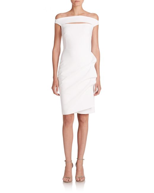La Petite Robe Di Chiara Boni | White Off-the-shoulder Stretch Jersey Dress | Lyst