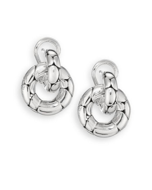 John Hardy | Metallic Kali Sterling Silver Small Doorknocker Earrings | Lyst