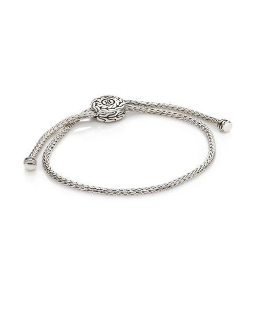 John Hardy | Metallic Classic Chain Sterling Silver Knot Slide Bracelet | Lyst
