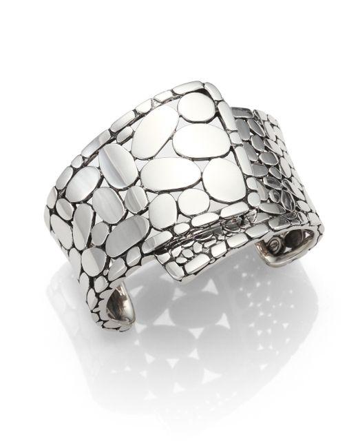 John Hardy | Metallic Kali Sterling Silver Overlap Cuff Bracelet | Lyst