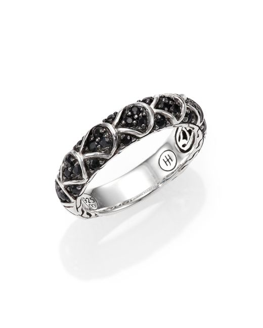 John Hardy | Metallic Naga Black Sapphire & Sterling Silver Slim Dragon Band Ring | Lyst